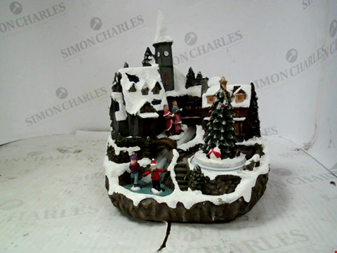 Lot 13132 MUSICAL POLYRESIN CHRISTMAS VILLAGE SCENE RRP £38.00