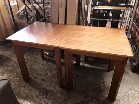 Lot 69 2 X SQUARE WOODEN TABLES