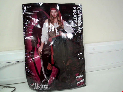 Lot 8069 WICKED COSTUMES CARIBBEAN PIRATE FANCY DRESS COSTUME - SIZE MEDIUM