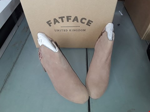 Lot 7046 FATFACE ELLE EMBROIDERED BROWN TAN ANKLE BOOTS SIZE 5 UK