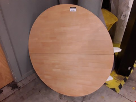 Lot 12164 DESIGNER CIRCULAR WHITE/OAK EFFECT EXTENDING DINING TABLE TOP