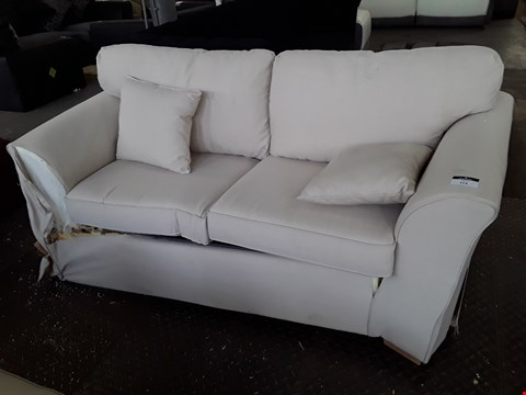 Lot 68 DESIGNER NATURAL FABRIC TWO SEATER SOFA