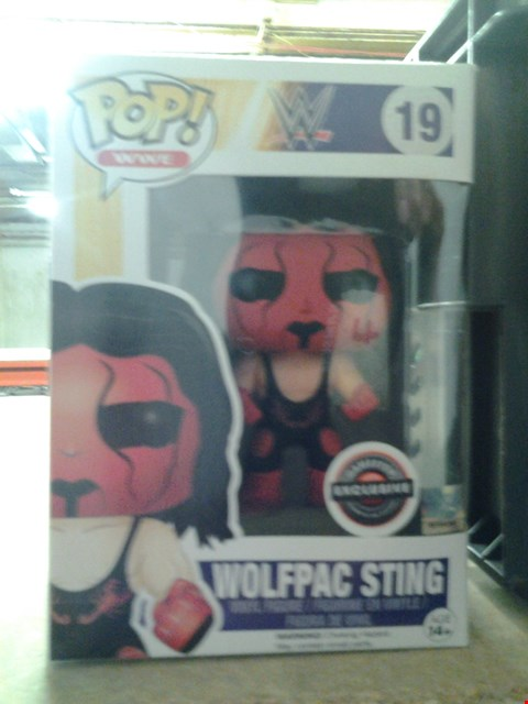 Lot 343 BOXED POP WWE WOLFPAC STING VINYL FIGURINE