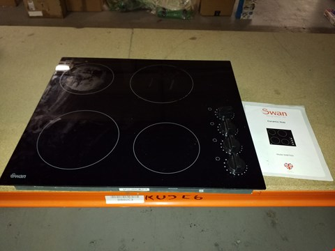 Lot 2372 SWAN SXB7050B 60CM BUILT IN CERAMIC HOB  RRP £200.00