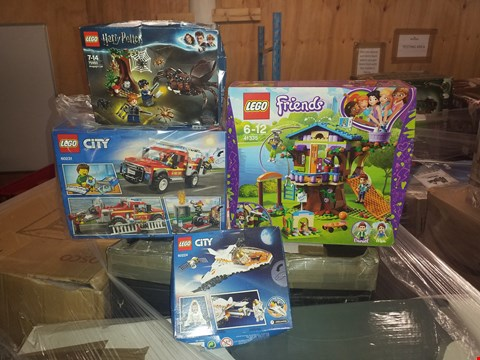 Lot 484 LOT OF 4 GRADE 1 LEGO ITEMS TO INCLUDE LEGO FRIENDS 41335 MIA'S TREE HOUSE, HARRY POTTER 76950 ARAGOG'S LAIR AND CITY 60224 SPACE PORT SATELLITE SCENE RRP £78.00