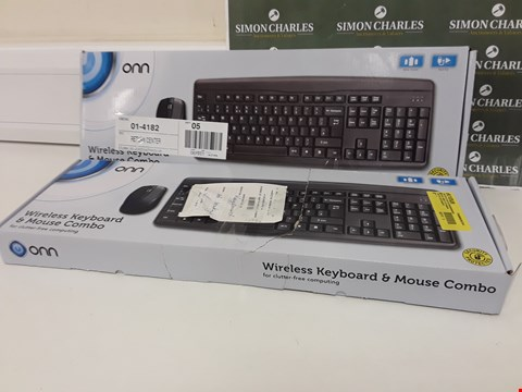 Lot 234 TWO BOXED ONN WIRELESS KEYBOARD & MOUSE COMBO