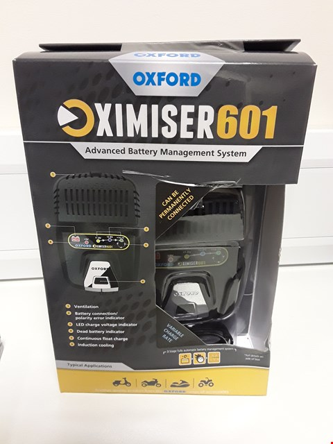 Lot 4089 BOXED OXFORD OXIMISER 601 ADVANCED BSTTERY MANAGEMENT SYSTEM