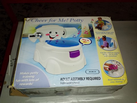 Lot 14014 BOXED CHEER FOR ME! POTTY