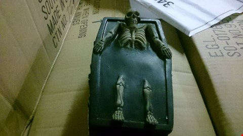 Lot 533 BOX OF 4 SKELETON COFFIN BOX