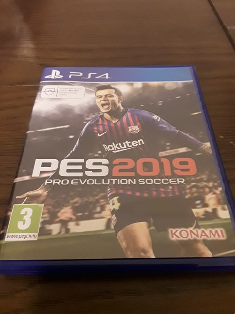 Lot 1011 PES 2019 PLAYSTATION 4 GAME