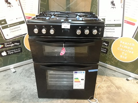 Lot 9021 SWAN SX15862B BLACK DOUBLE OVEN GAS COOKER