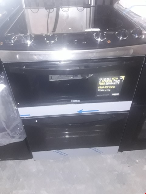 Lot 65 ZANUSSI ZCI68300BA 60cm ELECTRIC INDUCTION DOUBLE OVEN BLACK RRP £959