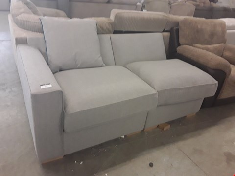 Lot 152 DESIGNER GREY FABRIC SOFA SECTION