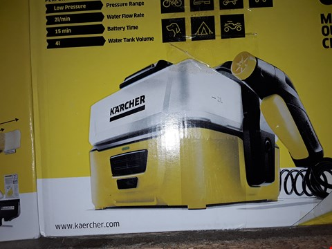 Lot 12553 KÄRCHER OC3 PORTABLE CLEANER, 6 V