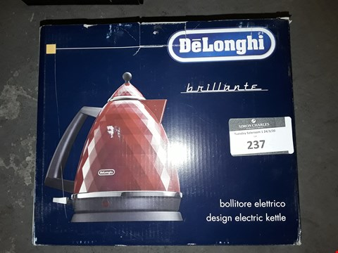 Lot 237 DELONGHIE BRILLIANTE CORDLESS ELECTRIC KETTLE