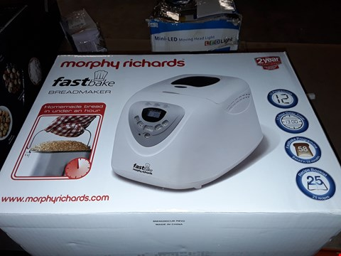 Lot 518 MORPHY RICHARDS FAST BAKE BREADMAKER