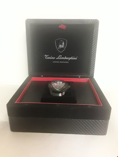 Lot 13 BOXED TONINO LAMBORGHINI WRIST WATCH IN A PRESENTATION BOX