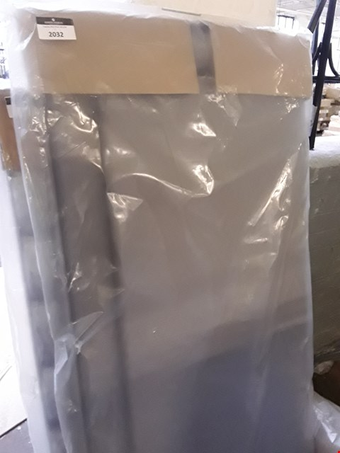 Lot 2032 DESIGNER BAGGED 150CM GREY FABRIC HEADBOARD