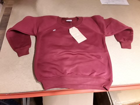 Lot 220 BOX OF APPROXIMATELY 50 SCHOOL JUMPERS RED VARIOUS SIZES