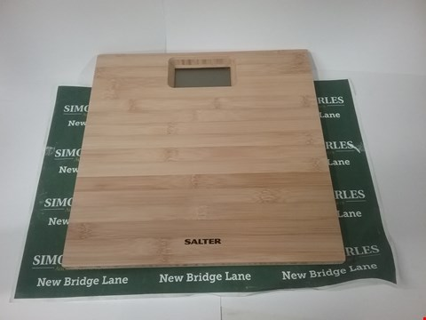 Lot 17162 2 X SALTER BAMBOO PERSONAL SCALE