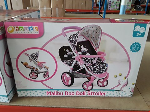 Lot 11194 GRADE 1 MALIBU DUO DOLL STROLLER RRP £44.99