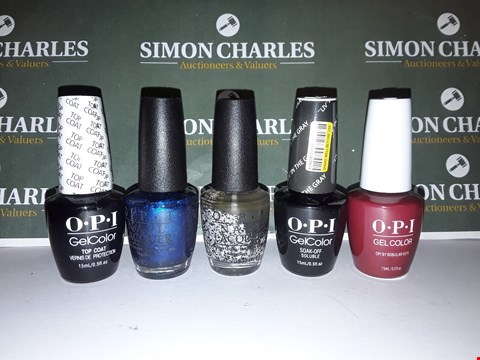 Lot 16 LOT OF 5 ASSORTED OPI NAIL GELS