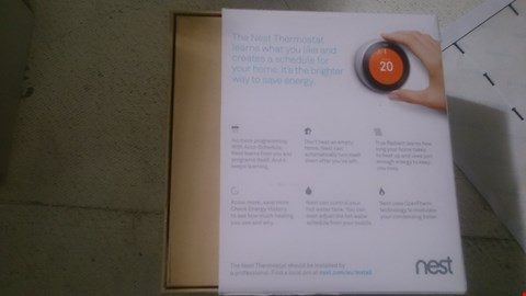 Lot 33 NEST LEARNING THERMOSTAT