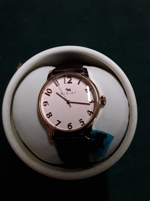 Lot 1439 BRAND NEW RADLEY LIVERPOOL STREET BROWN LEATHER STRAP ROSE GOLD FACE WATCH RRP £120