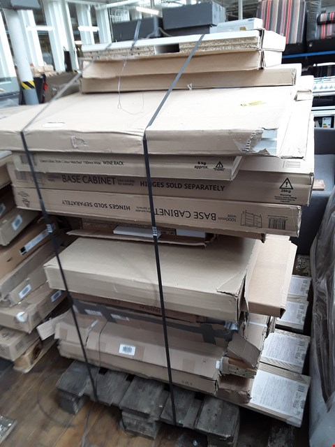 Lot 2173 PALLET OF ASSORTED FLAT PACK KITCHEN ITEMS