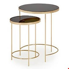 Lot 3026 BOXED DESIGNER RITZ COFFEE NEST OF TABLES IN BLACK