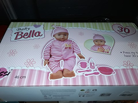 Lot 5040 BOXED BABY BELLA TALKING DOLL  RRP £24.99