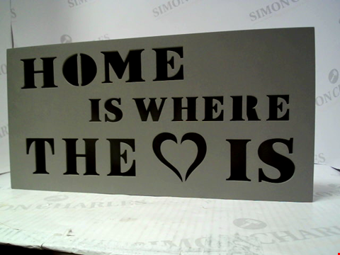 Lot 5036 LOT OF 8 ILLUMINATED HOME IS WHERE THE HEART IS SIGNS