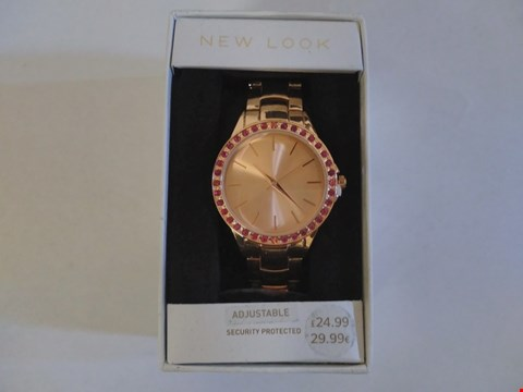 Lot 1600 NEW LOOK STYLE PINK STONED SPORTS WATCH