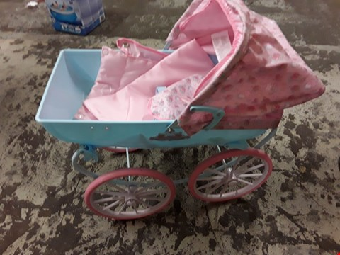 Lot 10664 GRADE 1 BABY ANNABELL CARRIAGE PRAM  RRP £77.00