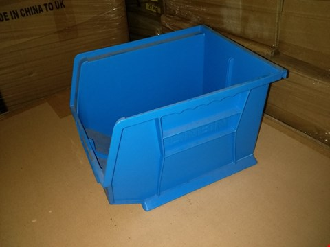 Lot 10006 PALLET OF ASSORTED SIGNIFICANT QUANTITY OF CARDBOARD STORAGE BOXES AND 2 BOXES OF LINBIN BLUE PLASTIC STORAGE BINS