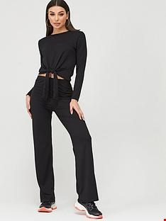 Lot 3213 BRAND NEW BOO HOO RIBBED BLACK SUIT SIZE 14