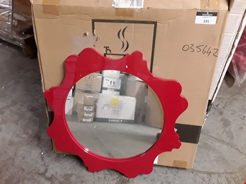 Lot 395 BOXED PARADOX BURGUNDY 42CM ROUND MIRROR