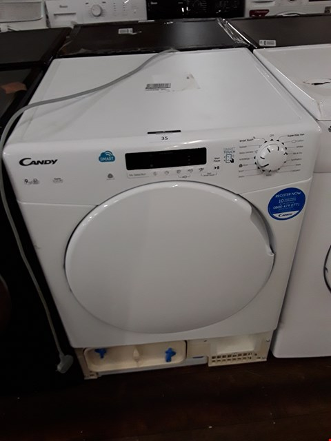 Lot 35 CANDY WHITE SENSOR CONDENSER TUMBLE DRYER RRP £219.99
