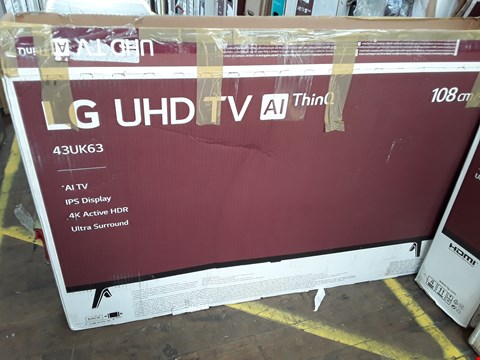 "Lot 1074 LG 43"" ULTRA HD THINQ TELEVISION MODEL 43UK6300PLB"