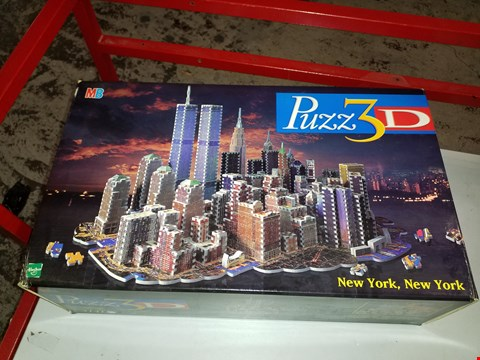 Lot 14015 MB PUZZ3D NEW YORK, NEW YORK 3D PUZZLE