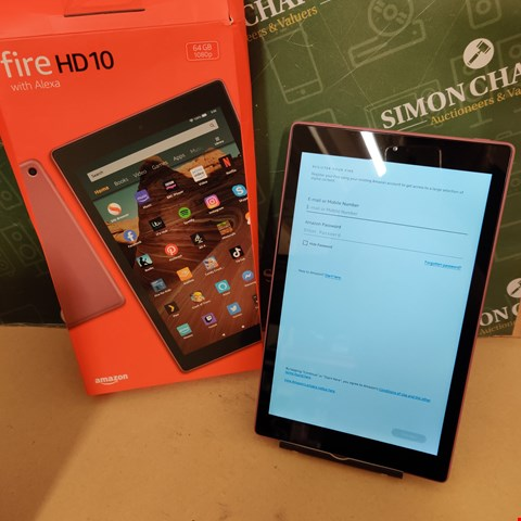 Lot 55 AMAZON FIRE HD10 64GB 1080P TABLET IN