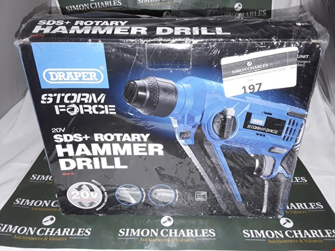 Lot 197 BOXED DRAPER STORM FORCE SDS AND ROTARY HAMMER DRILL