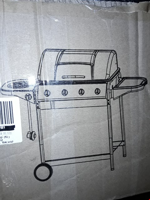 Lot 335 4 BURNER PROMO GRILL WITH SIDE BURNER RRP £389