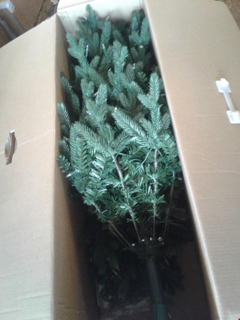Lot 41 BOXED PLASTIC CHRISTMAS TREE WITH LIGHTS