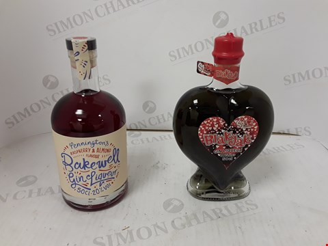 Lot 9039 LOT OF 2 ASSORTED ITEMS TO INCLUDE SWEET LITTLE BLAK JACK GIN LIQUEUR 50CL AND PENNINGTONS BAKEWELL GIN LIQUEUR  RRP £76.00