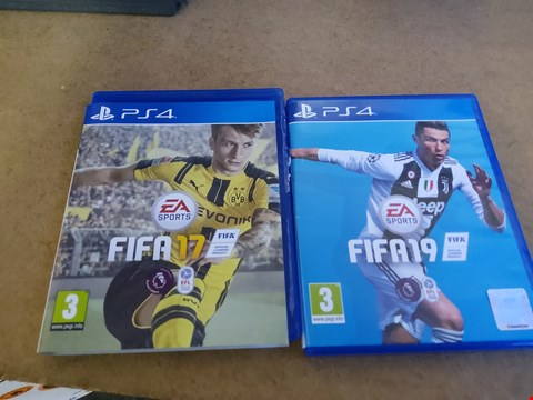 Lot 2570 PS4 FIFA 17 AND 19 GAME