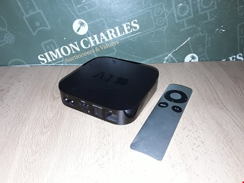 Lot 8236 UNBOXED APPLE TV BOX WITH REMOTE- A1378
