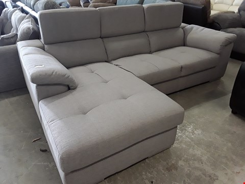 Lot 72 DESIGNER BRADY GREY FABRIC CHAISE SOFA