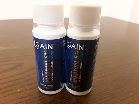 Lot 8022 LOT OF 2 QGAIN 60ML HIGH PURITY MINOXIDIL 5% HAIR REGROWTH TREATMENTS FOR MEN