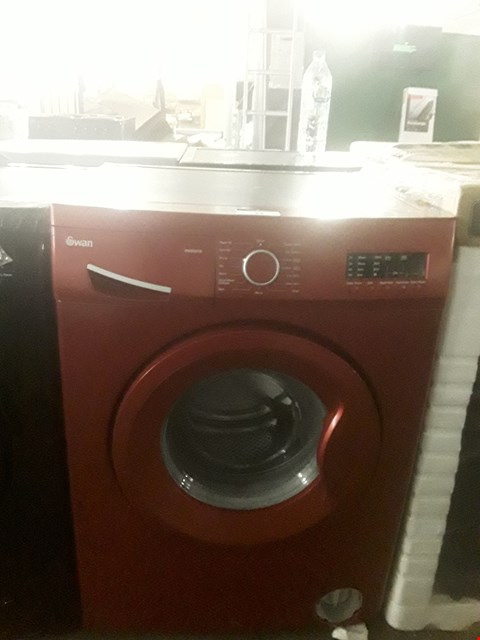 Lot 34 SWAN SW2051R RED 7KG 1200 SPIN WASHING MACHINE RRP £369